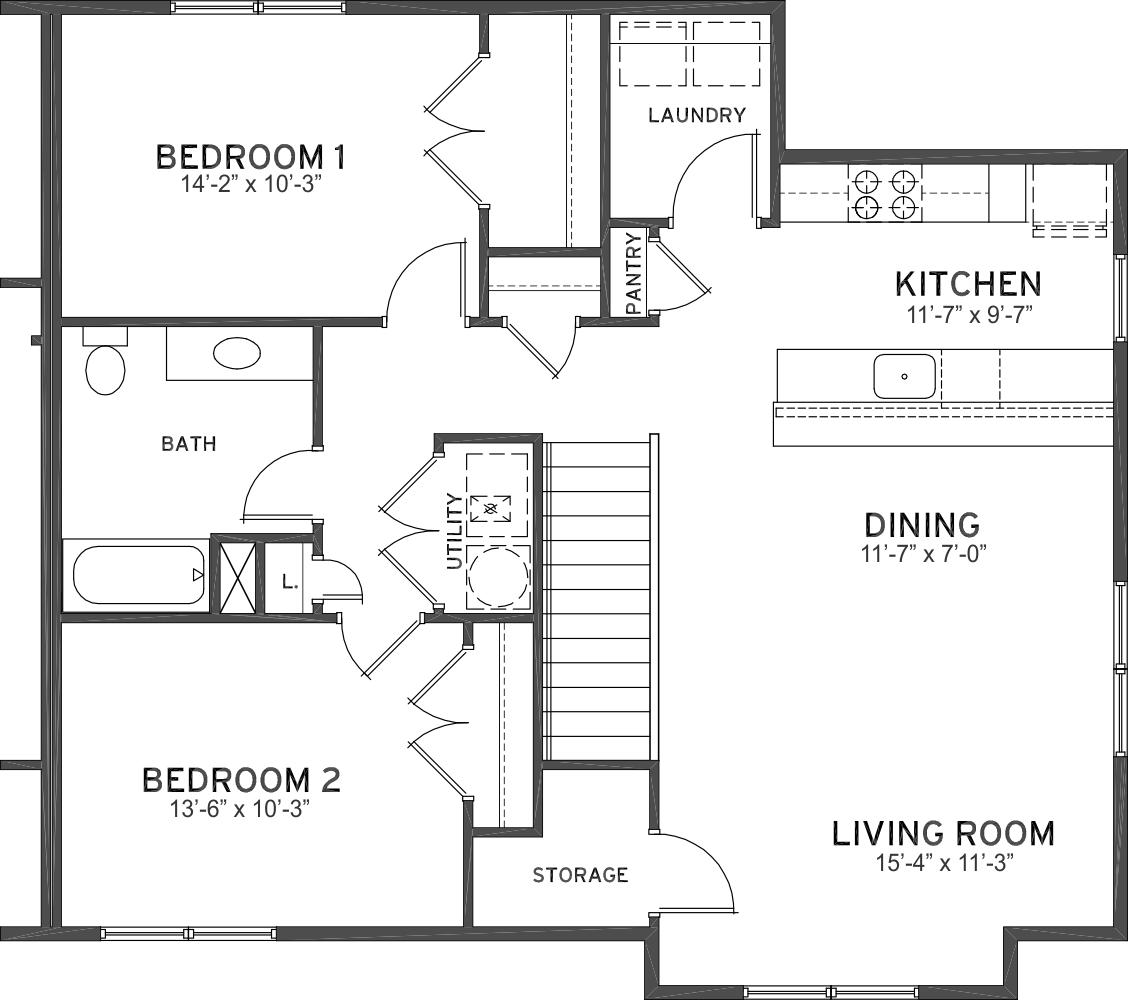 bedroom 1 bath flats ashland place townhomesashland place